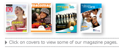 Click on covers to view some of our magaze pages